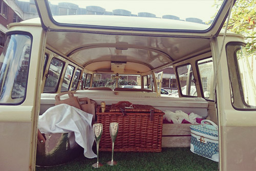Volkswagen Camper Wedding Car Hire